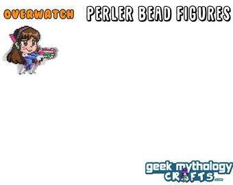 OVERWATCH - Large Perler Bead Sprite Pixel Art Figure Stand