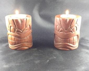 Tiki god, tea light candle