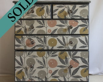 Botanical Chest Of Drawers - Cottontail Collection - SOLD!