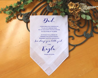 Father of the bride handkerchief Father of the Bride Gift father of the Groom gift Wedding Handkerchief PRINTED handkerchief-PadCop[38]