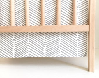 Crib Skirt Gray Freeform Arrows. Baby Bedding. Crib Bedding. Crib Skirt Boy. Baby Boy Nursery. Gray Crib Skirt. Chevron Crib Skirt.