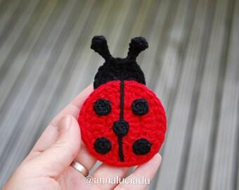 2 differnt sized crochet ladybugs, crochet applique, ladybug applique, crochet patterns, Embellishment Pattern,PDF Instant Download