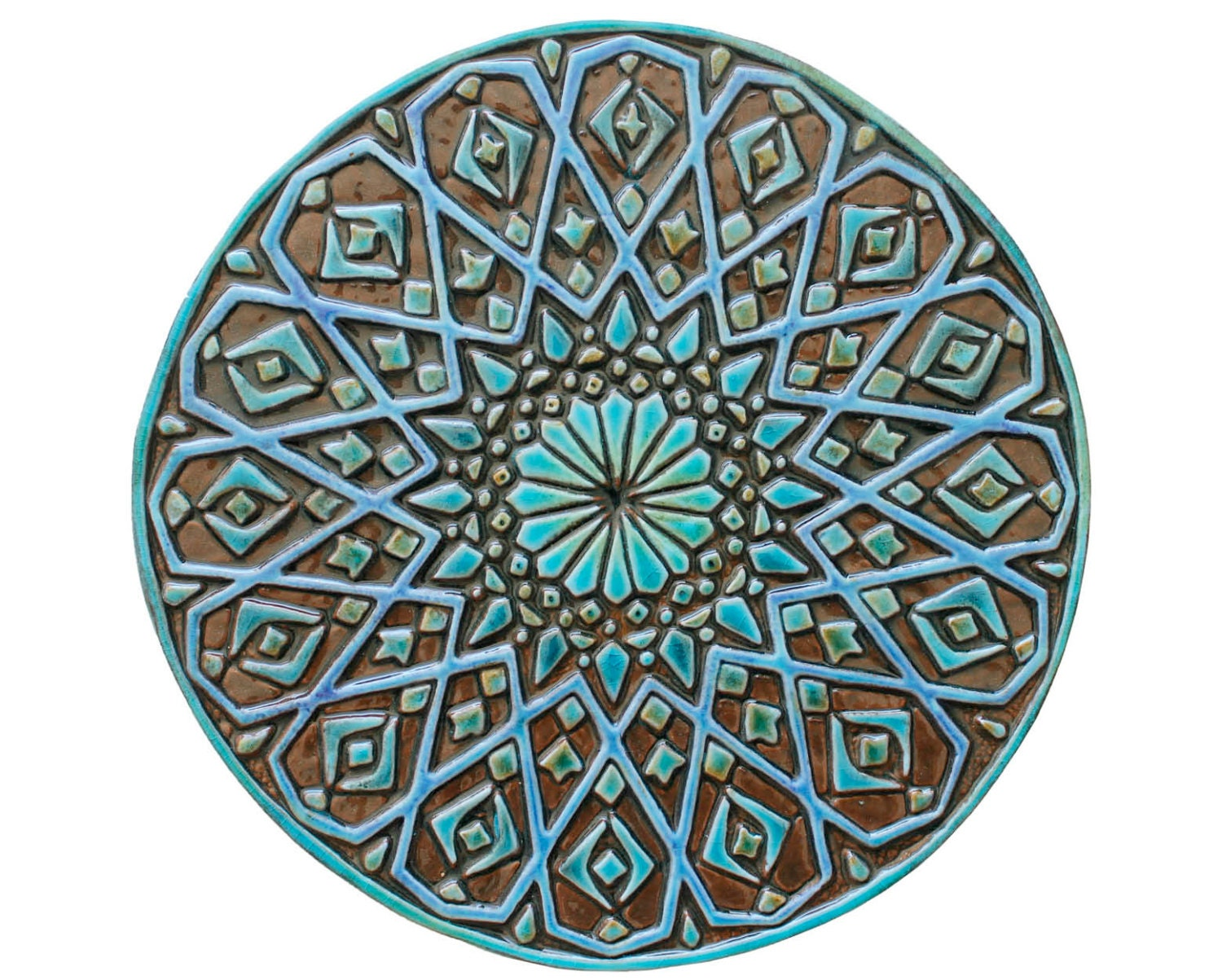 Moroccan wall decor made from ceramic exterior wall art zoom dailygadgetfo Gallery