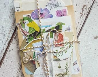 Junk Journal Kit , Paper Ephemera Pack ,  Journal Kit , Scrapbooking Lot, Smash Book , Diy Craft Kit ,