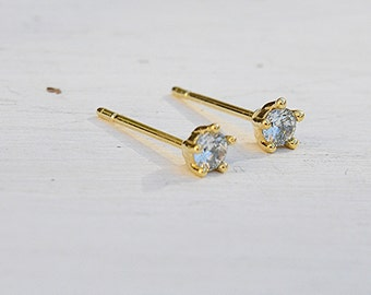 gold earrings,cz earrings,bridal earrings,stud earrings,tiny earrings,bridesmaid earring,wedding earrings, wedding jewelry-21201