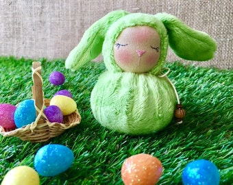 Little Lime Green Waldorf Bunny