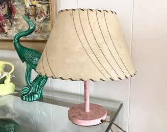 Vintage lamp shade etsy fabulous 50s fiberglass lamp shade retro atomic for your mid century home aloadofball Choice Image