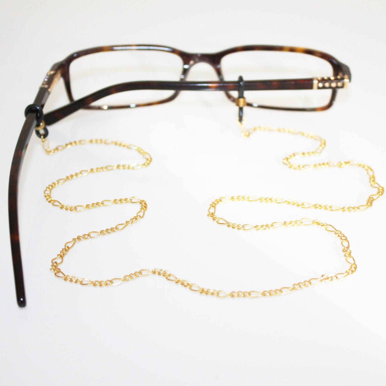 Figaro Brillenkette Gold