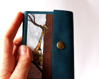 Small notebook, sketchbook, manual, leather cover
