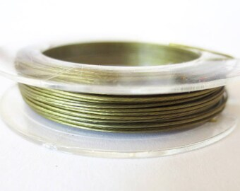 Coil 10 m wire 0.45 mm OLIVE Green