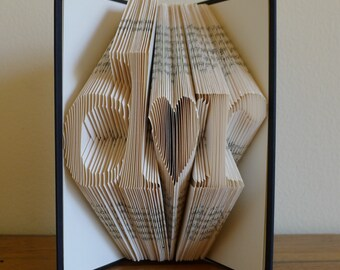 Personalized Gift for Boyfriend Anniversary Girlfriend - Paper Anniversary Gift - Handmade - Gift for Him - Gift for Her Husband Wife