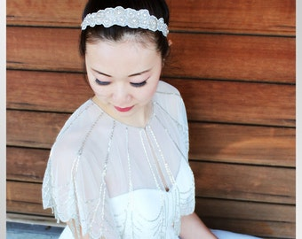 HALLIE - Bridal Headband, wedding headpiece, hair accessory
