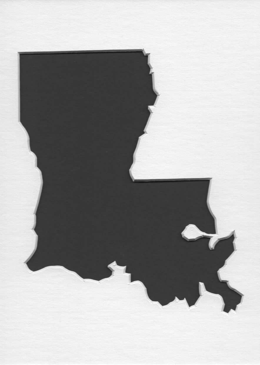 Louisiana Stencil Made From 4 Ply Mat Board