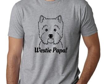 Westie Papa T-Shirt, Westie Dad Shirt, Westie Dad T-Shirt, Westie T-Shirt, Westie Shirt, Westie Tee, West Highland White Terrier