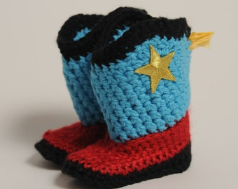 Baby Cowboy Booties-Western Booties-Country Baby Booties