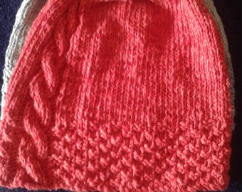 Beanie Hat made from organic cotton yarn twisted with bamboo yarn for a super soft finish