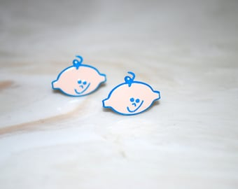 Boy Studs -- Baby Shower, Baby Blue Boys, Its a Boy, Mother to be Gift, Party Favor