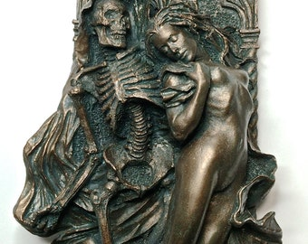 Death and the Maiden, Small Wall Plaque