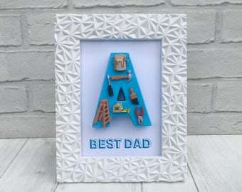 Best Dad gift, Gift for DIY enthusiast, Home decorating gift, Grandad gift, Gift from kids, Personalised Father's Day gift, Tool lover gift