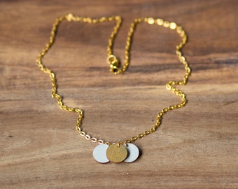 """Necklace chain """"Circles"""" in mint-gold of dearest sister"""