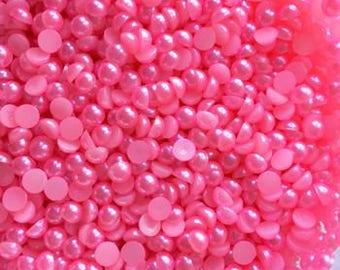 Flat Back Pearls - 4mm - 07 - Flamingo