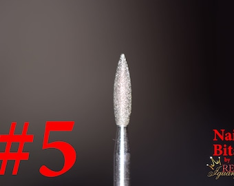 "Diamond Nail Bit ""Flame #5"" - 2.5mm"