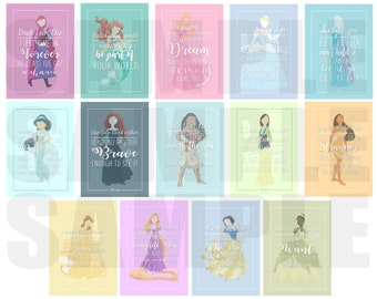 Disney Princess 8x10 Print