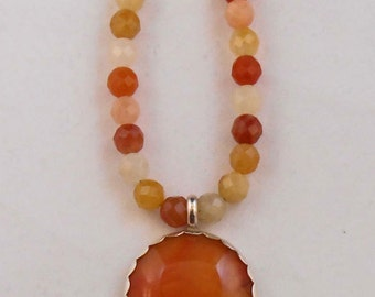 Carnelian Agate Necklace