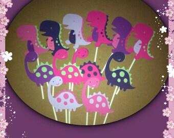 12 Dinosaur Cupcake Toppers Dinosaur Birthday Dinosaur baby