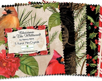 Christmas in the Wildwood by Nancy Mink-Wilmington Prints-Charm Square Pack
