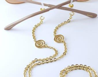 Modern Gold Eyeglass Chain, Gold Glasses Chain, Eyeglass Chains, Sunglasses Chain, Eyeglass Holder Necklace, Maetri Eyeglass Chains
