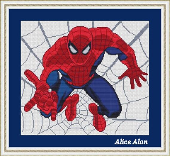 Cross stitch pattern spider man superheroes marvel counted - Marvel spiderman comics pdf ...