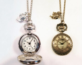 Watch necklace etsy popular items for watch necklace aloadofball Choice Image