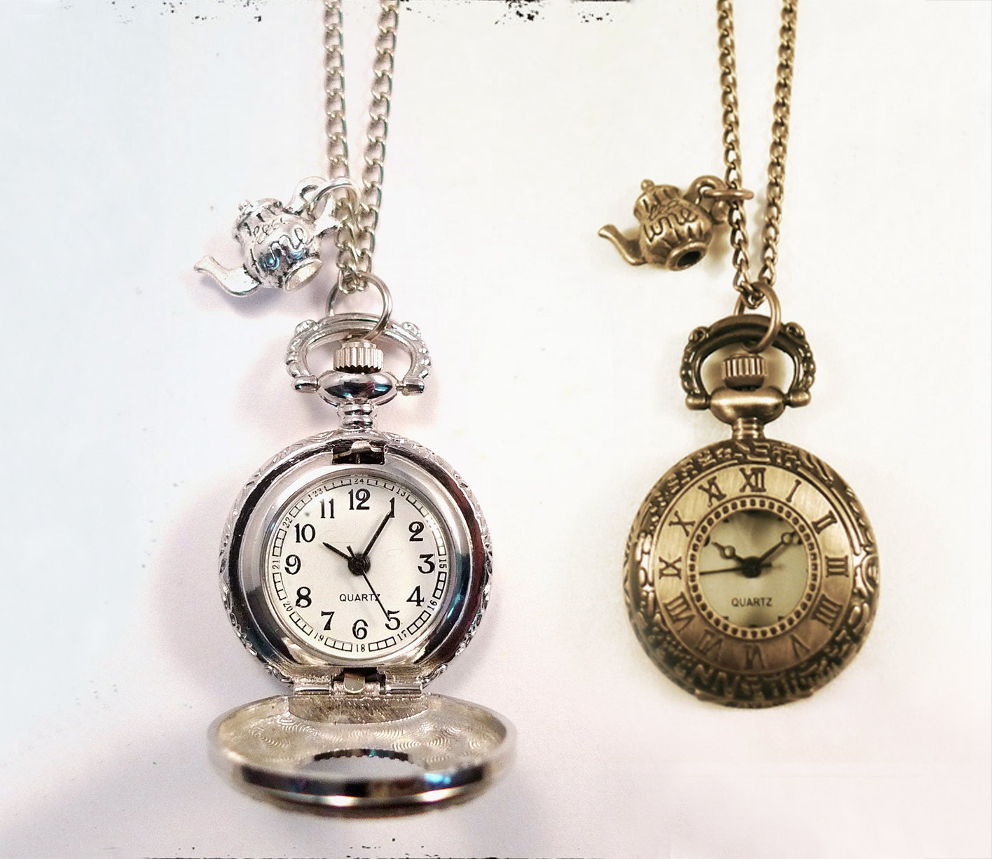 clock necklace necklaces roman rose numeral index flower pendant