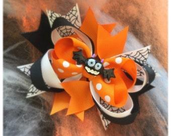 Children's Halloween Bat Bow