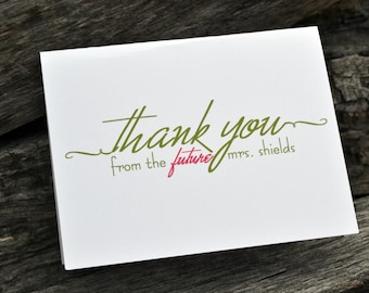 Personalized Thank You Notes / Personalized Bridal Shower Thank You Note / Personalized Note Cards / Stationery Set -Bridal Thank You Notes