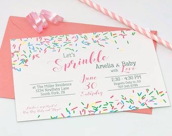 Baby Shower Invitations - Baby Sprinkle Invite - Sprinkle Baby Shower - Printable Baby Shower Invites - Printable PDF File
