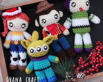 Free Shipping-Toy Story inspired crochet dolls, Plushies -Made to order-
