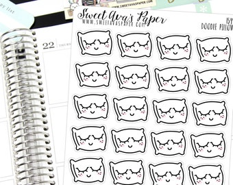 Pillow Planner Stickers - Sleep Planner Stickers - Sleep Stickers - Mom Life Stickers - Nap Planner Stickers - Lazy Stickers - 1549