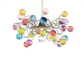 Lighting - Ceiling light Pastel color bubbles for girls bedroom, living room or bathroom.
