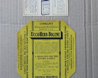 1930s 2 Pair of 2 Vintage Tonic Labels Medicine