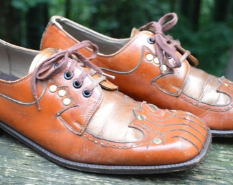 Super Groovy Shoes 1970's, Vintage, Size 7 (Men) 8.5 (Women)