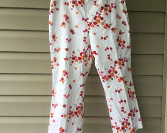Pedal pushers, ladies capris,women's clothing, size 10P, cotton, Quality Vintage