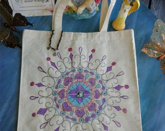 Yoga Canvas Tote Bag - A new Beginning