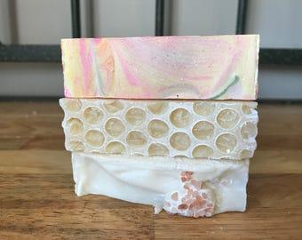 Citrus Soap Sampler, Sample Soaps, Variety Soap Pack, Salt Soap, Natural Soap, Gift Soap