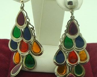 Multicolored Earrings Hanging Earrings