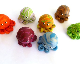 Custom  Little Octopus Choose Yours Up to Three Colors
