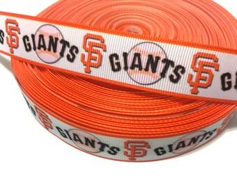 7/8 San Francisco Giants Ribbon, SF giants Ribbon, Giants Grosgrain Ribbon