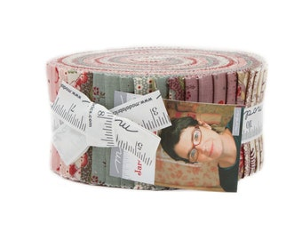 Jardin de Versailles Jelly Roll (42 - 2 1/2 x WOF strips) designed by French General for Moda Fabrics