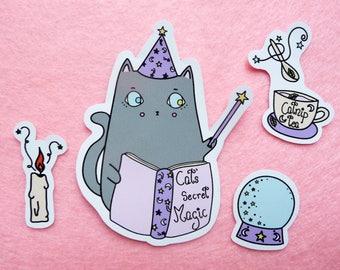 Cat's Secret Magic // Sticker set